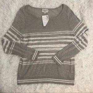 NWT Feel The Piece Striped Sweater Size M/L